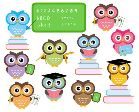 cute themes for school owl school clipart classroom education clip by