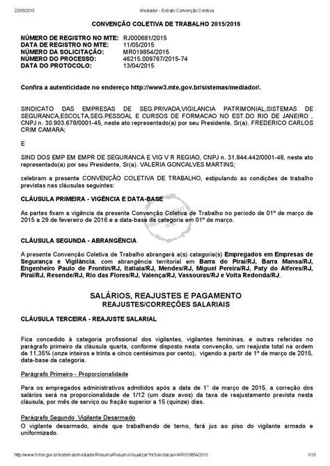 dissidio 2016 do vigilante diss 237 dio coletivo 2015 2016 sindicato dos vigilantes