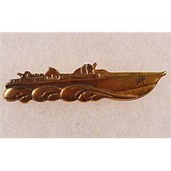 pt boat badge ww2 usn naval pt boat officer s badge brass cons