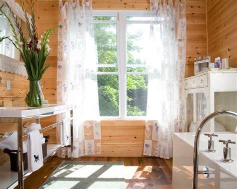 Painting Wood Windows White Inspiration Wonderful Knotty Pine Wood Flooring Rustic Bathroom With Knotty Pine Walls White Trim And White