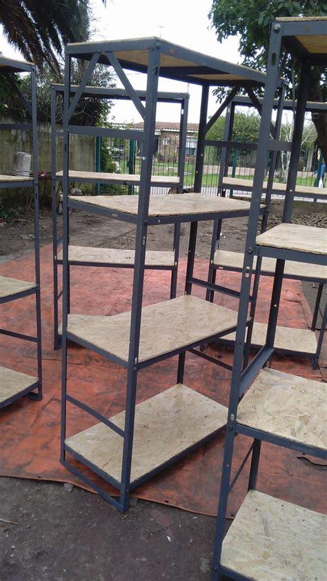 estantes de hierro estanteria metalica en hierro reciclado usado 1 300