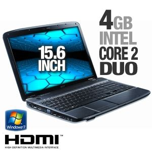 Laptop Acer Aspire 2 Duo acer aspire as5738 6444 notebook pc intel 2 duo t6600 2 20ghz 4gb ddr2 320gb hdd dvdrw