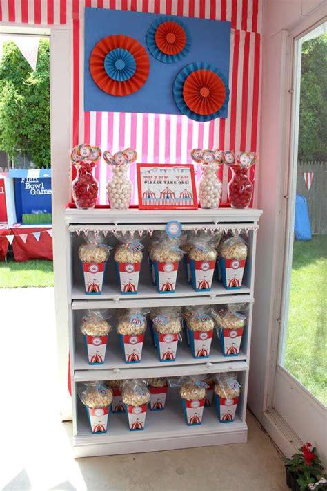 backyard carnival birthday ideas big top backyard carnival birthday ideas photo 1