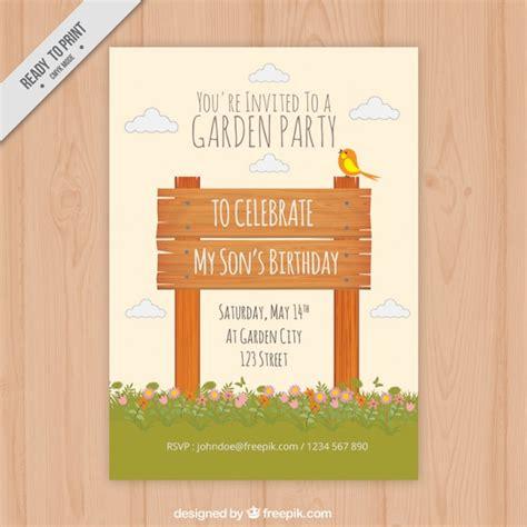 Gartenparty Einladung Vorlage