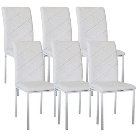 lot 6 chaises pas cher lot de 6 chaises design blanche achat vente chaise