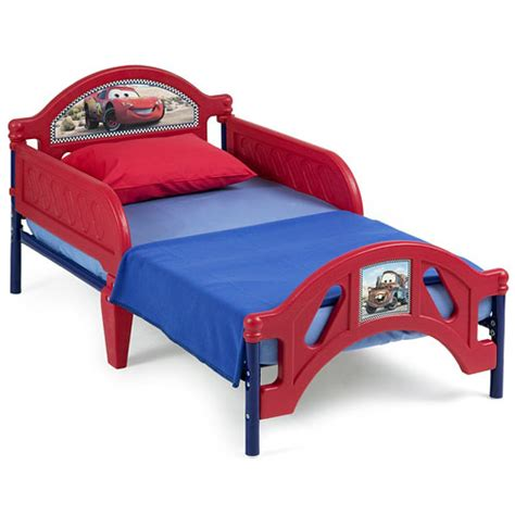 disney cars toddler bed disney pixar cars lightning mcqueen toddler bed toddler walmart com