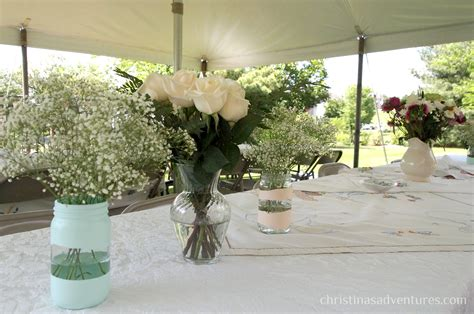 bridal shower table centerpieces vintage bridal shower christinas adventures