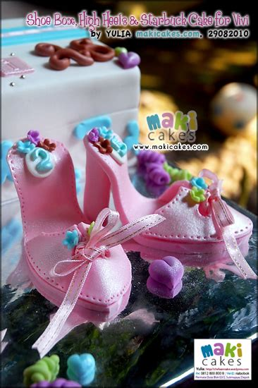 Sepatu Project High shoe box high heels starbuck cake for vivi