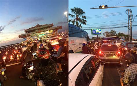 bali police pleading motorists   alternative routes