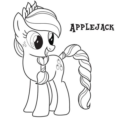 applejack coloring page color my little pony