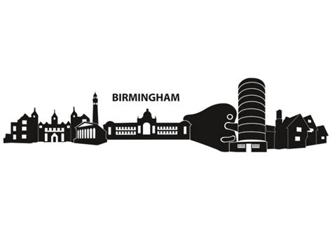 birmingham skyline wall sticker wall art com
