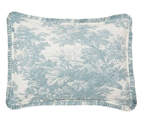 Toile Quilt by Matine Toile Quilt Sham Pottery Barn