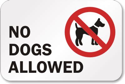 no dogs allowed sign 18 in x 12 in no dogs allowed sign sign sku k 1399