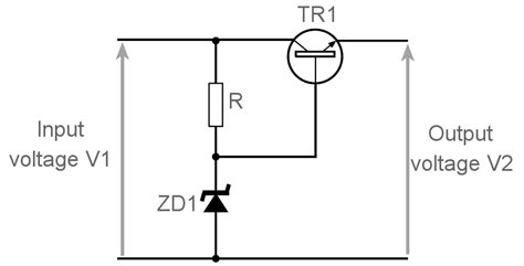 voltage regulator using zener diode and bjt voltage protection power supply overvoltage electronics notes