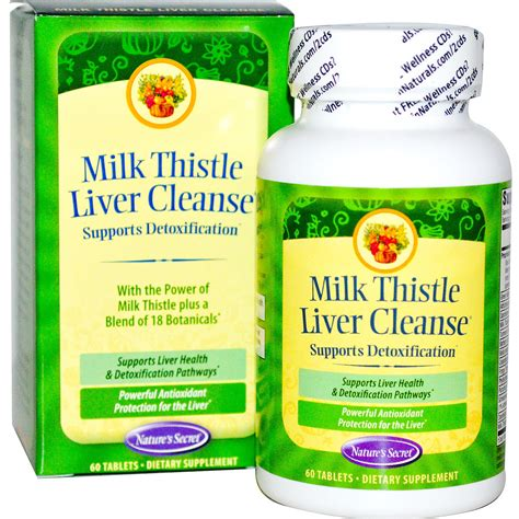 High Cholesterol Liver Detox by Nature S Secret Milk Thistle Liver Cleanse 60 Tablets