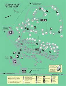 State Parks Map by Campground Maps State Parks And Public Lands Maine Dacf