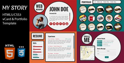 my story template 35 best responsive vcard themes designmaz