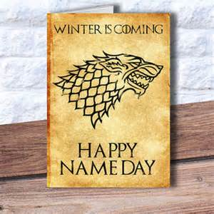 Sports Themed Bathroom Decor Game Of Thrones Birthday Card Happy Name From Printtransfer On