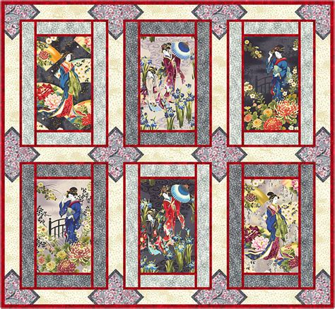 Free Japanese Quilt Patterns by Free Pattern Geisha Elegance Equilter Blogequilter
