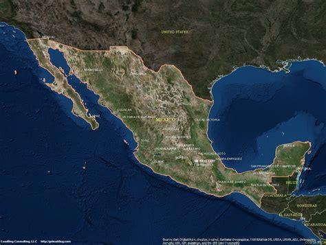satellite maps satellite map of mexico mexico map