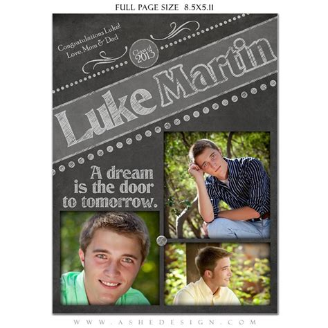yearbook ad templates for word chalkboard senior boy yearbook templates for photographers