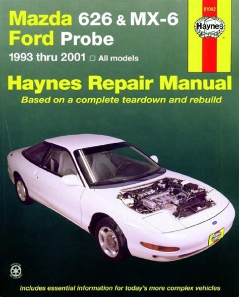online car repair manuals free 1995 mazda miata mx 5 lane departure warning repair manual ford probe mazda mx6