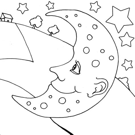 moon coloring pages free printable free printable moon coloring pages for kids best