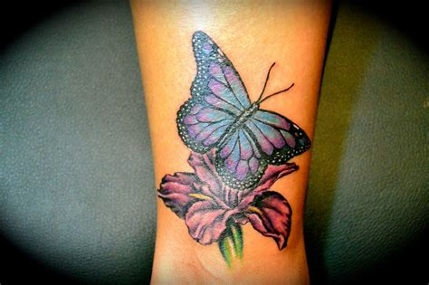 flower with butterfly tattoo designs i this flower and butterfly wrist hawaiian