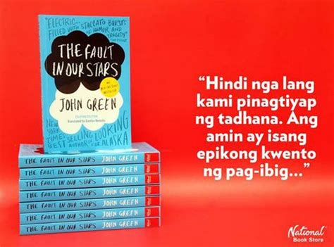Quot The Fault In Our Stars Quot Filipino Translation Received
