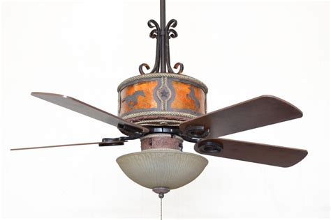 western ceiling fans with lights cc kvshr lth hs lk310 horses western leather colored