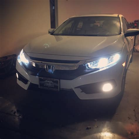 2016 civic ex l led head fog lights upgrade night