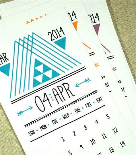 arrows printable monthly calendar   digital instant  hipster tribal aztec native