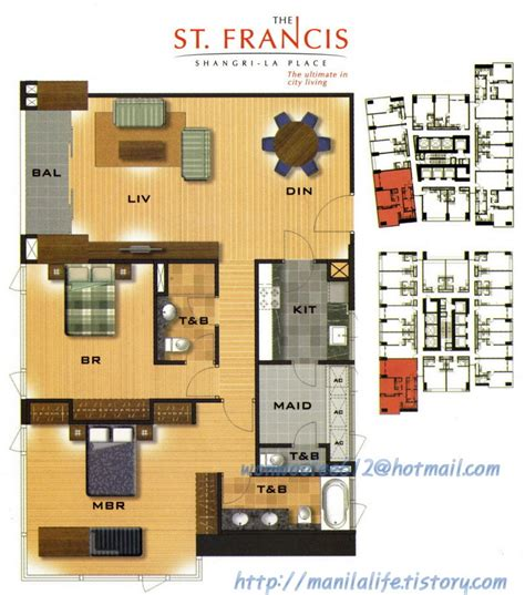 condo layout shangri la st francis tower floor plan and unit layout