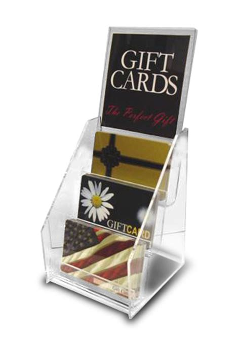 Gift Card Display Holders - 3 pocket display with sign holder