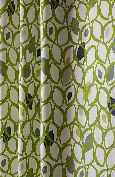 Cedar lime 163 14 per metre a linen coloured cotton canvas with a retro leaf motif leaf motif