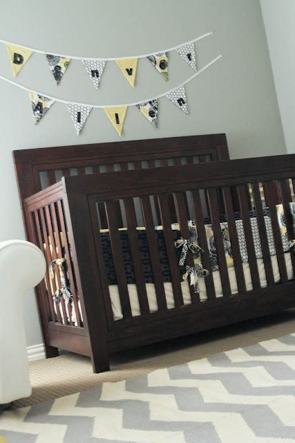Grey Brown Crib by Grey And Yellow Nursery Chelsea Since Your Crib Is Brown