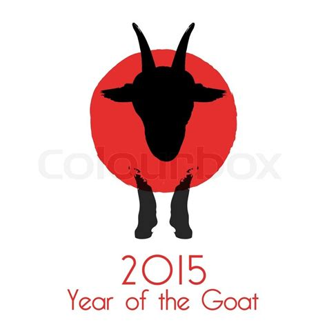 new year 2015 is it goat or sheep new year of the goat 2015 vector illustration