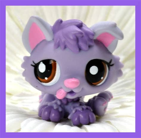 lps husky puppy other collectable toys littlest pet shop purple husky puppy 1752 was sold for