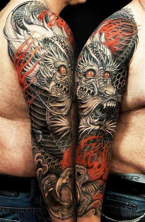 tattoo black and grey dragon 47 dragon tattoos on sleeve