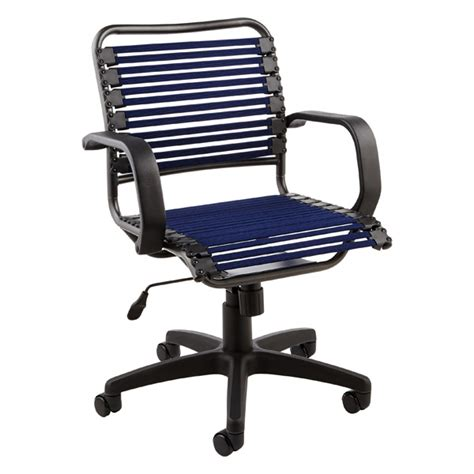 Container Store Chair navy flat bungee office chair with arms the container store
