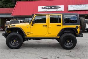 Yellow Jeep 2015 Jeep Wrangler Rubicon Unlimited Baja Yellow
