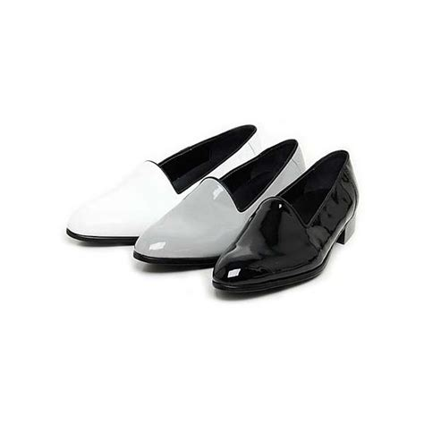 black and white loafers mens s glossy white loafers