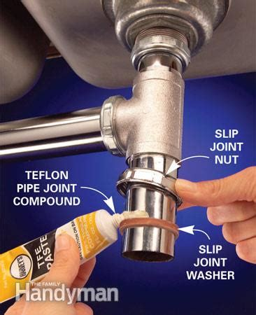 stop leaks in plumbing joints the family handyman