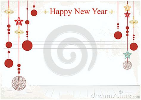 new year card design free new year decorations on a card design royalty free stock