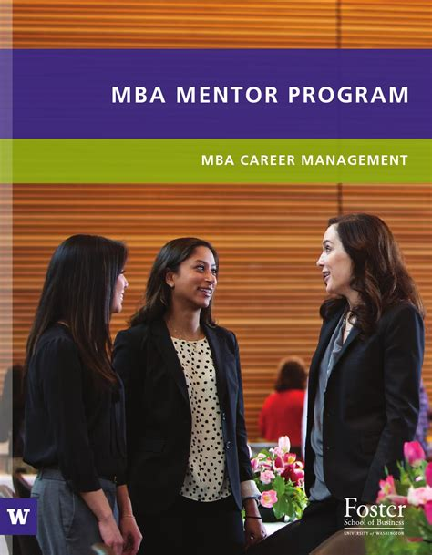 Wustl Mba Application by Issuu Mba Mentor Program Uw Foster School Of Business