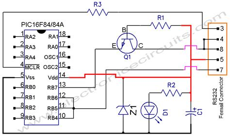 serial port pic programmer circuit diagram microcontroller programmer circuit page 3