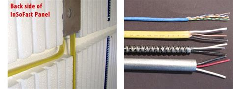 electrical integration insofast continuous insulation panels