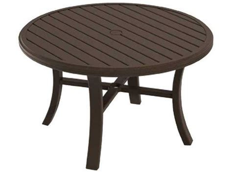 Tropitone Banchetto Aluminum 42 Round Chat Table 401186 Tropitone Patio Table