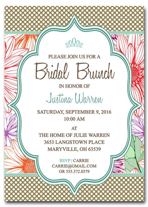 brunch invitation template free bridal shower brunch invitation template by scripturewallart