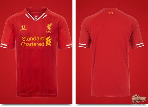Liverpool Tshirt Distro Hes Back warrior present the new liverpool home kit 13 14